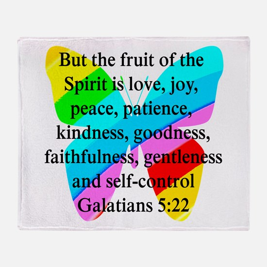 GALATIANS 5:22 Throw Blanket