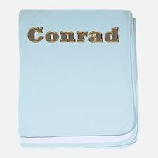 Conrad Gold Diamond Bling baby blanket