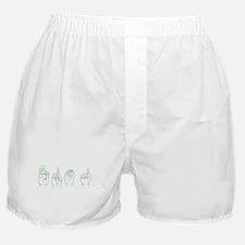 Green ASL FROG Boxer Shorts