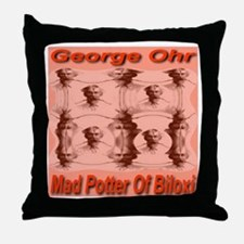 George Ohr Mad Potter Of Bilo Throw Pillow