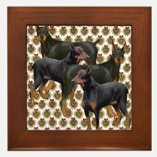 doberman grouping Framed Tile