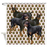 Doberman Shower Curtains