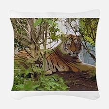 TIGER, TIGER Woven Throw Pillow
