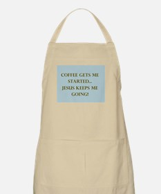 Coffee Gets Me Started Apron