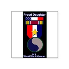 "Cute Wwii Square Sticker 3"" x 3"""