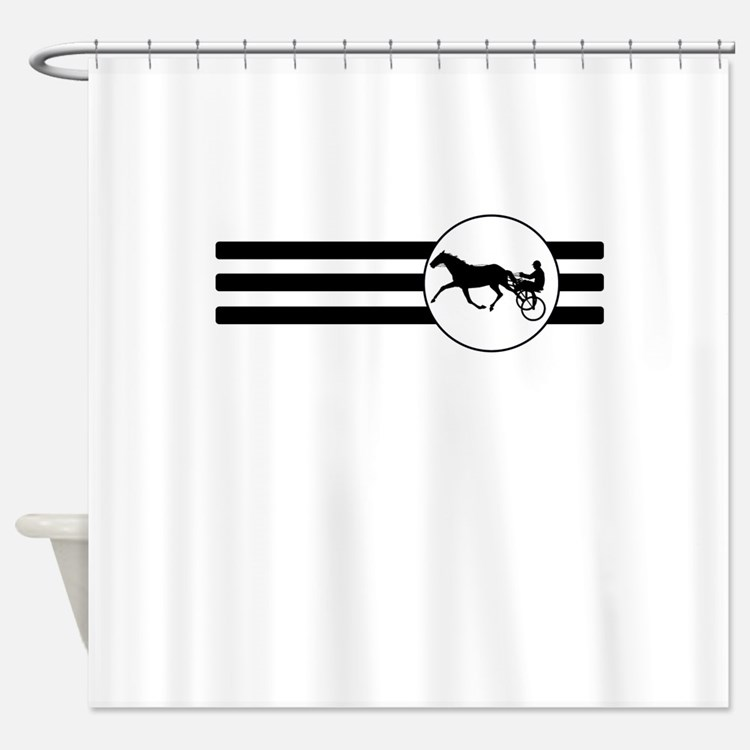 Harness Racing Stripes Shower Curtain