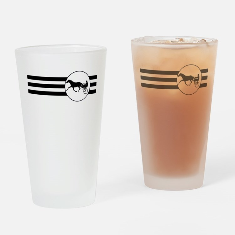 Harness Racing Stripes Drinking Glass