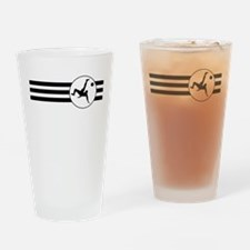 Bicycle Kick Stripes Drinking Glass