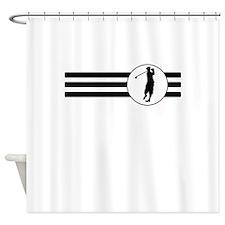 Golfer Stripes Shower Curtain