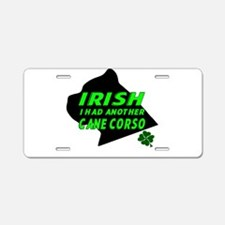 Irish Cane Corso Aluminum License Plate