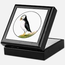 Puffin Bird Painting Artwork Keepsake Box