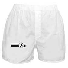 Cricket Player Stripes Boxer Shorts