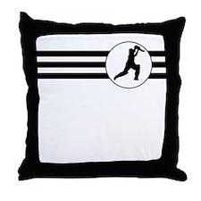 Cricket Player Stripes Throw Pillow