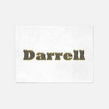Darrell Gold Diamond Bling 5'x7' Area Rug