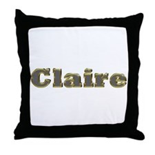 Claire Gold Diamond Bling Throw Pillow