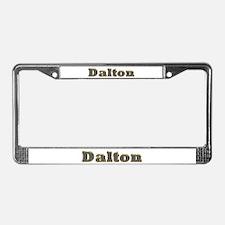 Dalton Gold Diamond Bling License Plate Frame