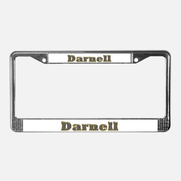 Darnell Gold Diamond Bling License Plate Frame