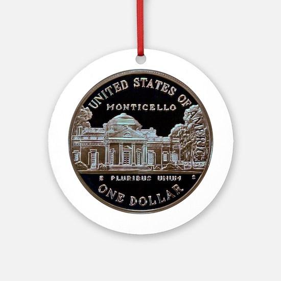 Thomas Jefferson Dollar Ornament (Round)