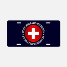 Swiss (rd) Aluminum License Plate