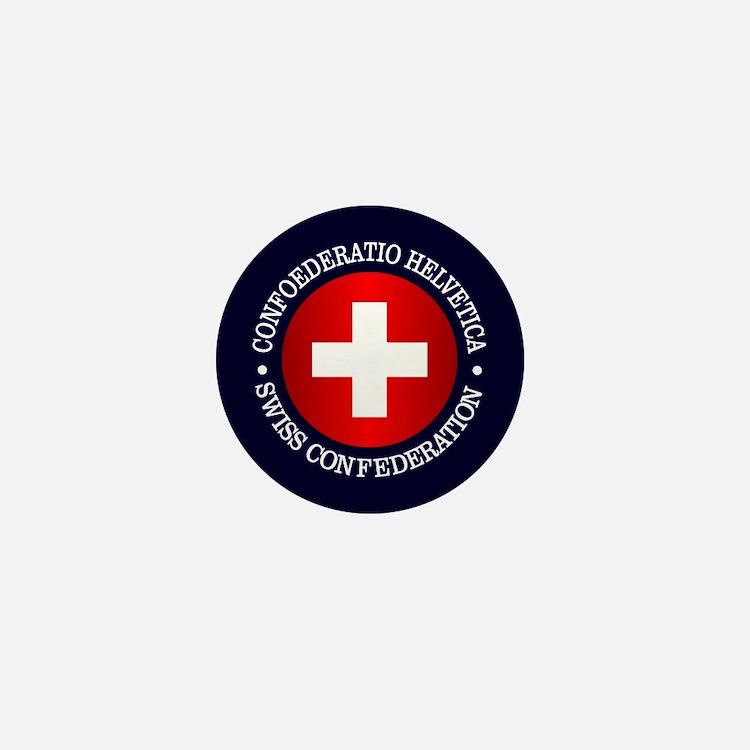 Swiss (rd) Mini Button