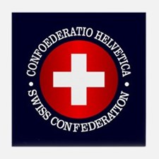 Swiss (rd) Tile Coaster