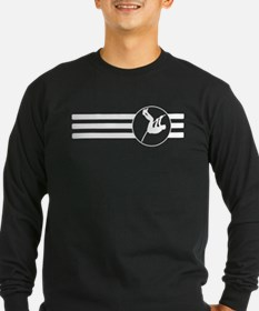Pole Vaulter Stripes Long Sleeve T-Shirt