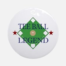 Tee Ball Legend Ornament (Round)