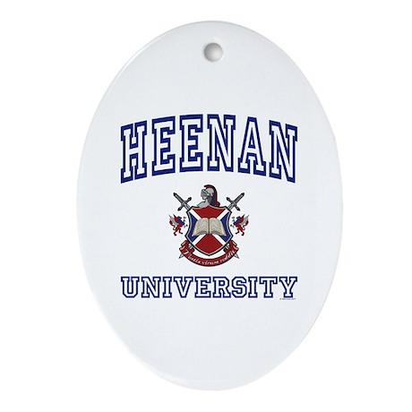 HEENAN University Oval Ornament