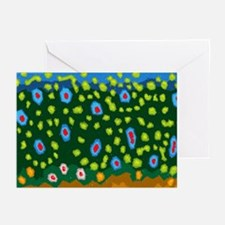 Brook Trout Skin Greeting Cards