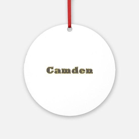 Camden Gold Diamond Bling Round Ornament