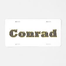 Conrad Gold Diamond Bling Aluminum License Plate