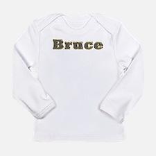 Bruce Gold Diamond Bling Long Sleeve T-Shirt