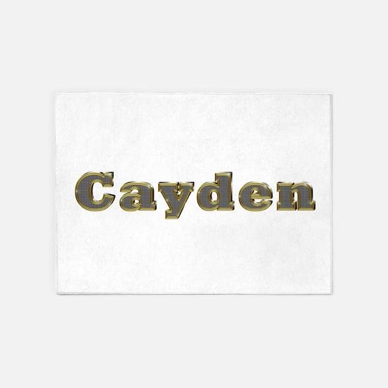 Cayden Gold Diamond Bling 5'x7' Area Rug