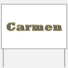 Carmen Gold Diamond Bling Yard Sign