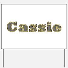 Cassie Gold Diamond Bling Yard Sign
