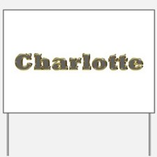 Charlotte Gold Diamond Bling Yard Sign