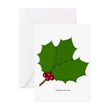 Holly Basic Greeting Card