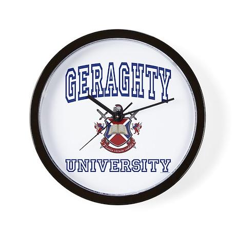 GERAGHTY University Wall Clock