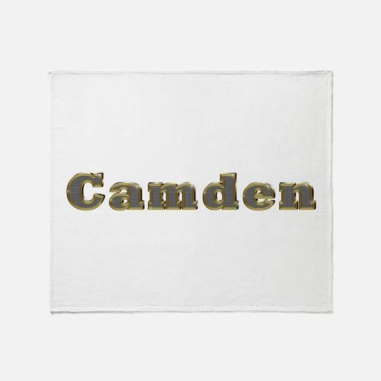 Camden Gold Diamond Bling Throw Blanket