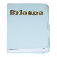 Brianna Gold Diamond Bling baby blanket
