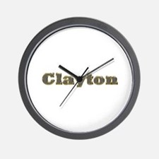 Clayton Gold Diamond Bling Wall Clock