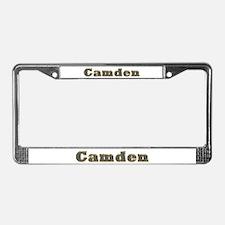 Camden Gold Diamond Bling License Plate Frame