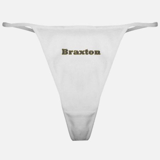 Braxton Gold Diamond Bling Classic Thong