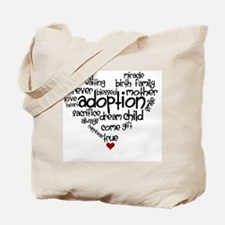 Adoption words heart Tote Bag