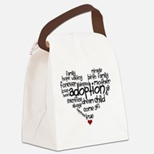 Adoption words heart Canvas Lunch Bag