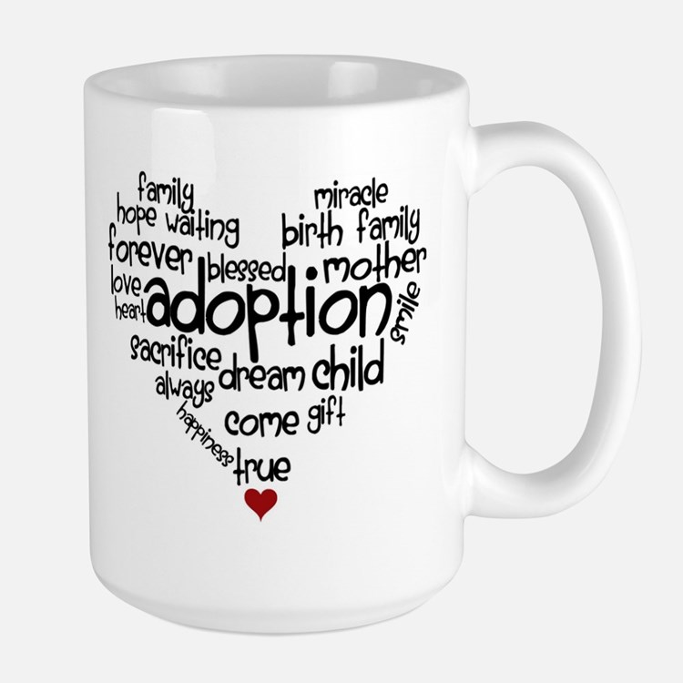 Adoption words heart Mug