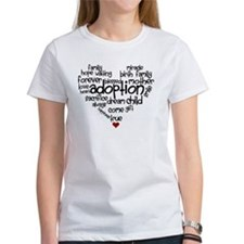 Adoption words heart Tee