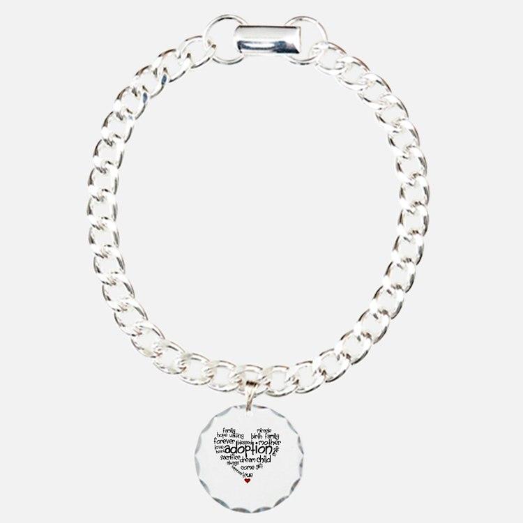 Adoption words heart Bracelet