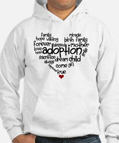 Adoption words heart Hoodie