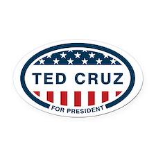Ted Cruz for president Oval Car Magnet